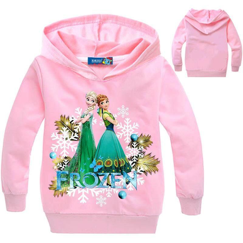 ชายหญิงเสื้อยืดลายการ์ตูนเสื้อผ้าเด็ก Elsa Anna Hoodies Coats By Oval Face 99.
