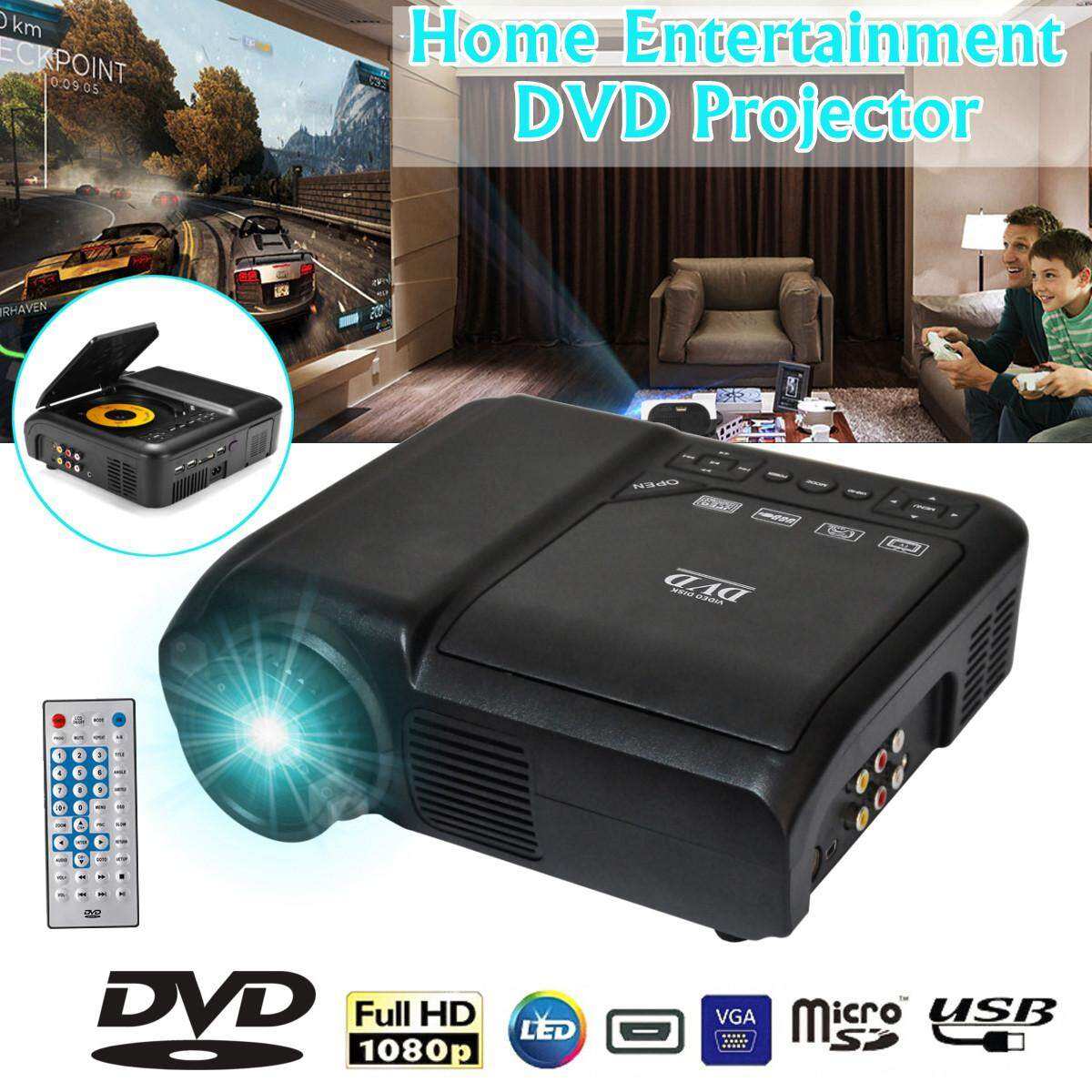 1080P HD LED Projector Home Cinema Theater Multimedia PC USB TV DVD Game Player