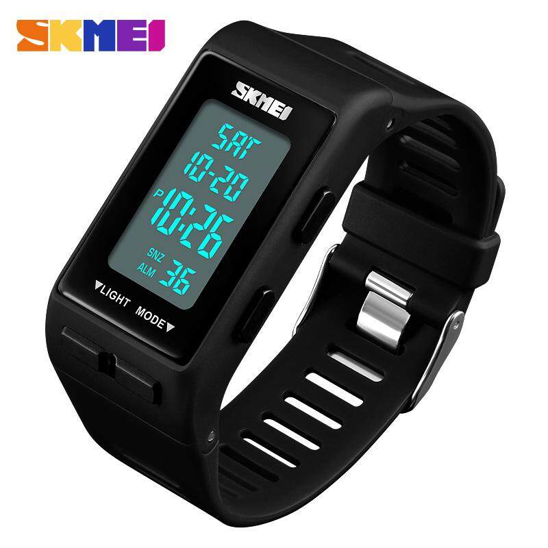 SKMEI Brand Men And Women General-Purpose Watch Leisure Outdoor Sports Waterproof Digital LED Electronic Timer Stopwatch  Mens And Womens Military PU Strap Watches Malaysia