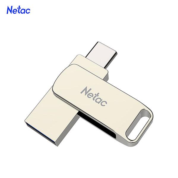 Giá Netac U783c 64G Type-C + Giao Diện Kép USB Ổ Đĩa Flash Cắm Và Chạy Điện Thoại Di Động Mở Rộng Bộ Nhớ U Đĩa Bạc