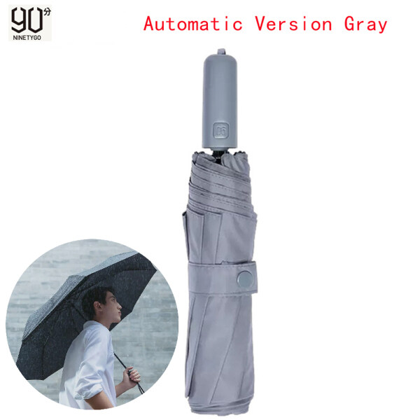 90 FUN Folding Anti-rebound Automatic Umbrella Somatosensory Cooling 3-7 Degrees Rainy Umbrella Summer Aluminum Windproof Waterproof With Anti-UV Sunscreen Coating Rainy and Sunny Umbrellas For Unisex Summer Travel Use