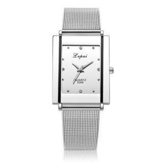 Đồng Hồ Nữ Dây Đeo Mới 2020, Đồng Hồ Nữ Siêu Mỏng Sang Trọng Reloj Mujer Dây Thép Vuông Đồng Hồ Nữ Đơn Giản Thời Trang Thạch Anh thumbnail