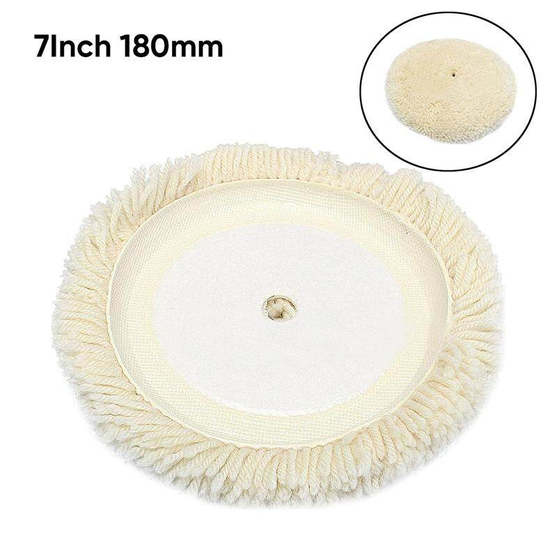25cm Soft Wool Car Clean Waxing Polishing Polisher Buffer Buffing Bonnet Pad