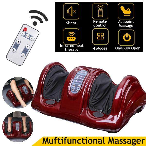 Buy Electric Heating Foot Massager Shiatsu Kneading Machine Calf Leg Pain Relief Color:Black Singapore