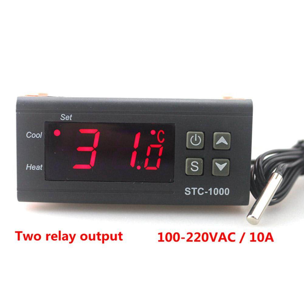ZHAOYAO STC-1000 Two Relay Output LED Digital Temperature Controller Thermostat Incubator with Heater and Cooler, 110V-220V 10A