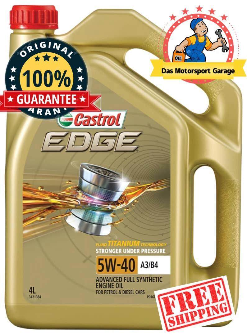Castrol Edge 5w40 Fully Synthetic Engine Oil 4L