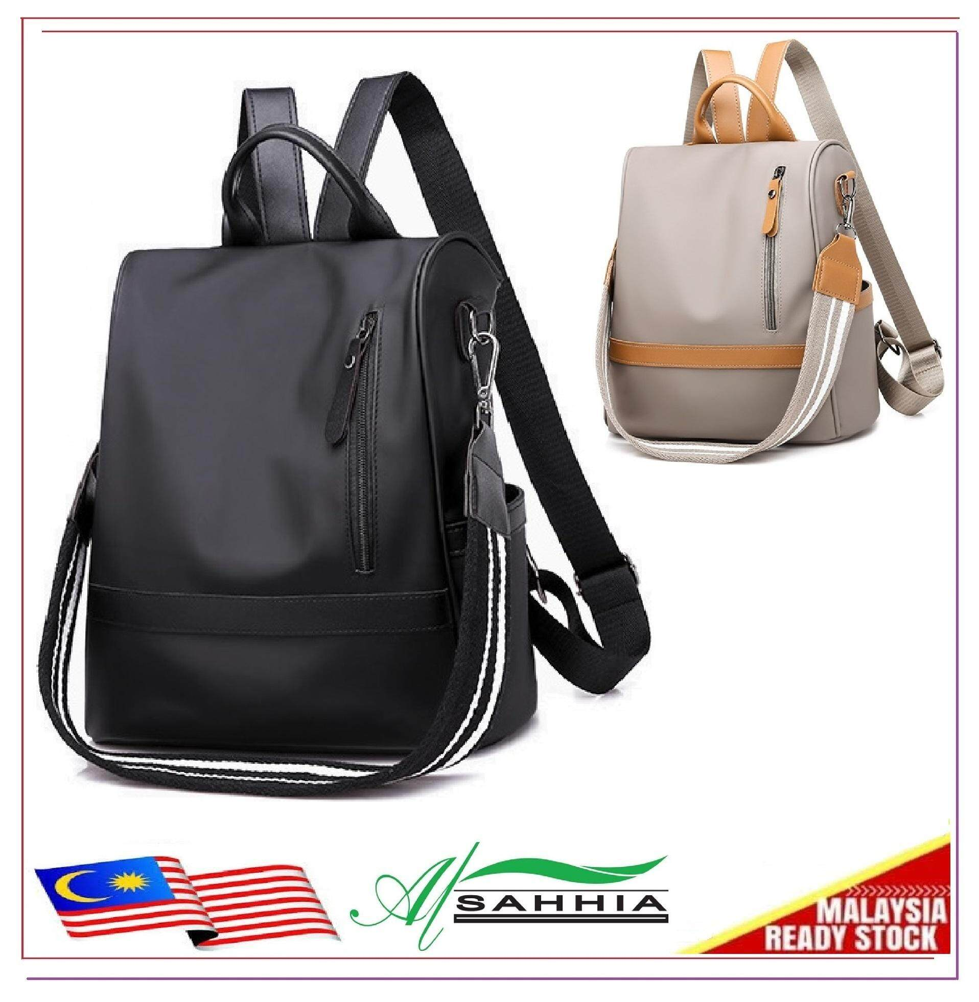 24fa133030f Al Sahhia Ready Stock Oxford Side Zip Anti-theft Waterproof Teenage Backpack  Travel Casual Bag