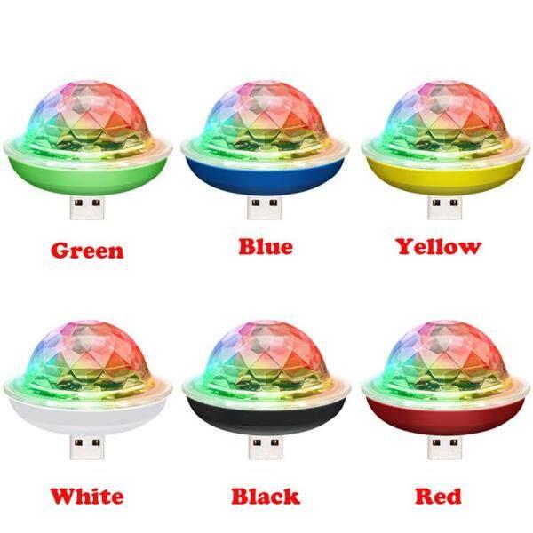 Tavey USB Di Động Pha Lê Bi Ma Thuật Disco LED Nhiều Màu Sắc Hiệu Quả Âm Thanh Điều Khiển Đèn Sân Khấu