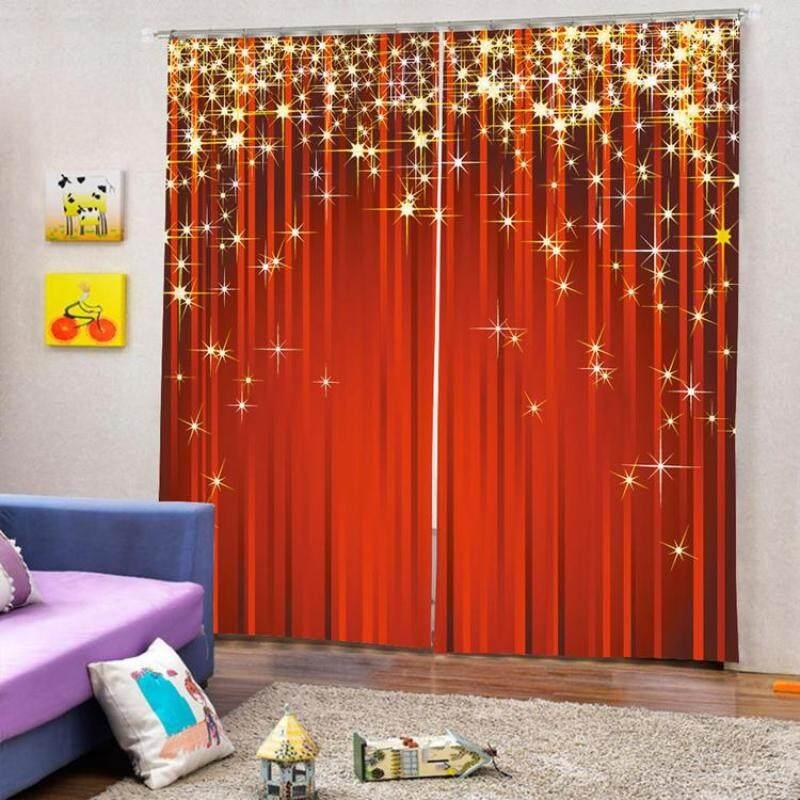 Rèm Cửa Giáng Sinh Aokaila 2 Chiếc, Rèm Polyester Chống Nắng Che Nắng Cho Phòng Khách Và Phòng Ngủ