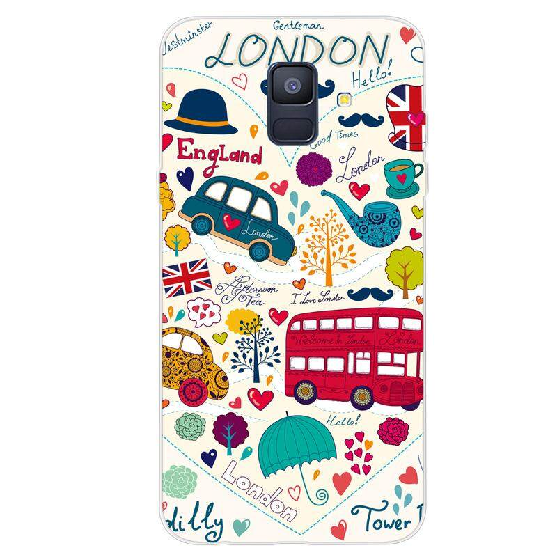 Moonmini Case for Samsung Galaxy A6 2018 Back Case Slim Fit Color Painting Series 1 Soft