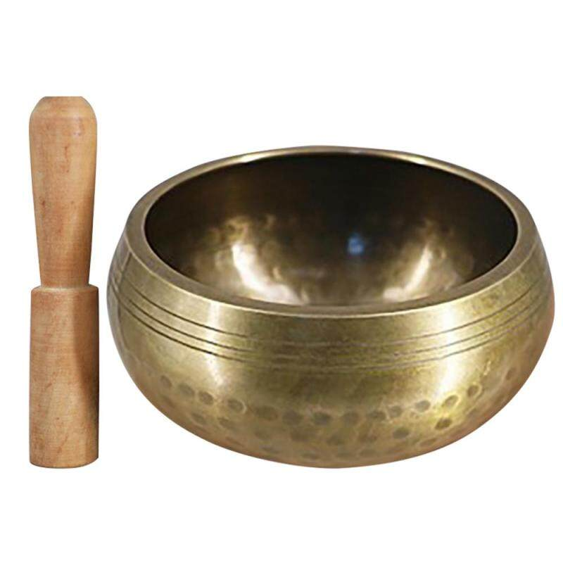 Tibetan Buddhist  Singing Bowl Buddha Sound Bowl Musical Instrument for Meditation with Stick Yoga Home Decoration