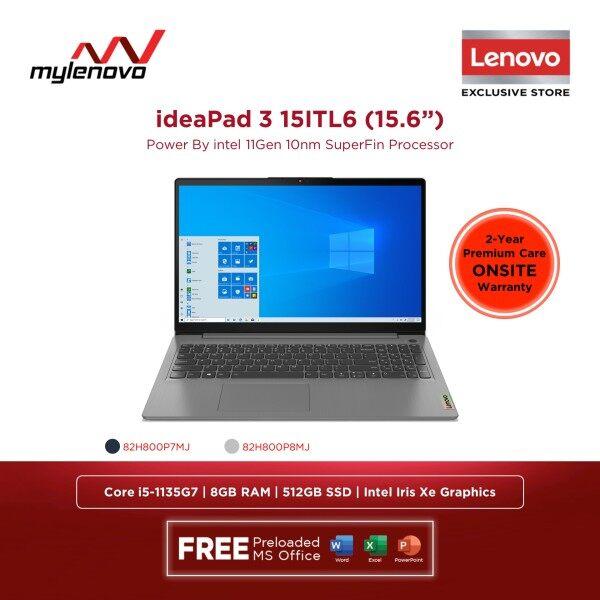 Lenovo IdeaPad 3 15ITL6 Intel Core i5-1135G7 8GB 512GB SSD Malaysia