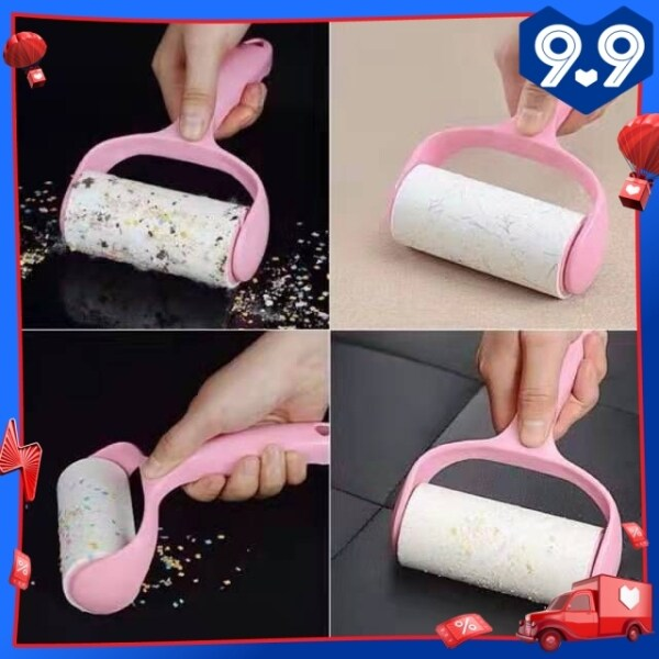 (3 Refill)Hair Roller Reusable Sticky Lint Roller Paper for Dust Hair Pet Fur Remover Cloth Cleaner