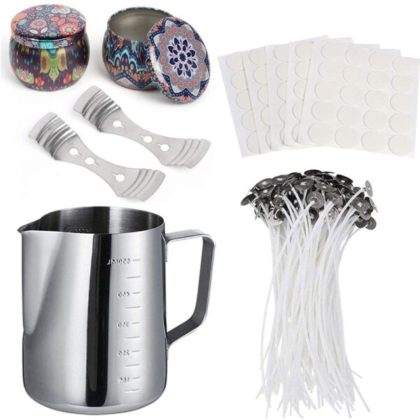 Mua Candle Making Kit Supplies,DIY Candles Craft Tools,Includ Candle Box,Candle Wicks,Wick Holder,Dots Wick Double Stickers