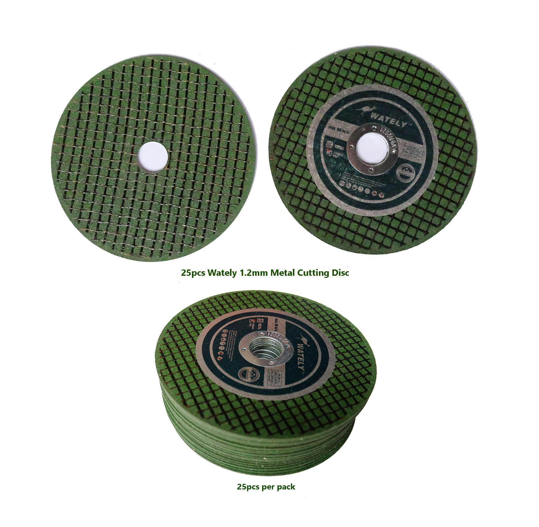 Wately Professional Metal Cuttings Disc Ultra Thin 25pcs for Angle Grinder