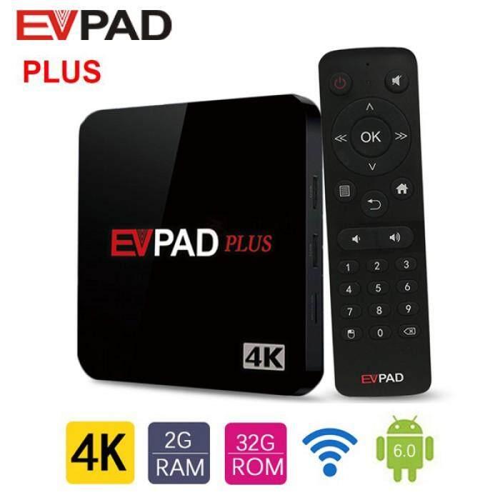 EVVPAD Plus 2G Ram 32g Rom 4K TV Box tvbox pre installed premium 1000+ live  channels IPTV and VOD