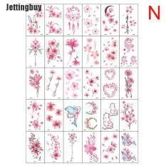 [Jettingbuy] Bộ 30 hình xăm dán tạm thời cho toàn thân hình hoa bướm chữ cái nghệ thuật không thấm nước, kích thước 5.7*9.7cm/2.24*3,82in (Sản phẩm có nhiều phiên bản lựa chọn, vui lòng chọn đúng sản phẩm cần mua) – INTL