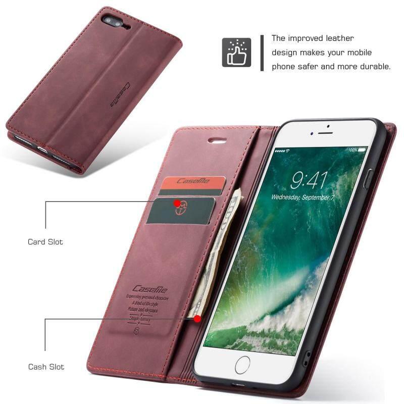 Giá BAO DA CASEME hút Tự động Da PU Ví Đứng dành cho iPhone 7 Plus/cho iPhone 8 Plus 5.5 inch