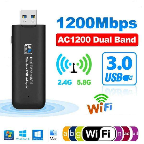 Deyln Dual-band USB 3.0 wireless USB adapter 2.4GHz-300Mbps/5.8G-867Mbps 11AC wireless network card AC1200 wifi wireless receiver