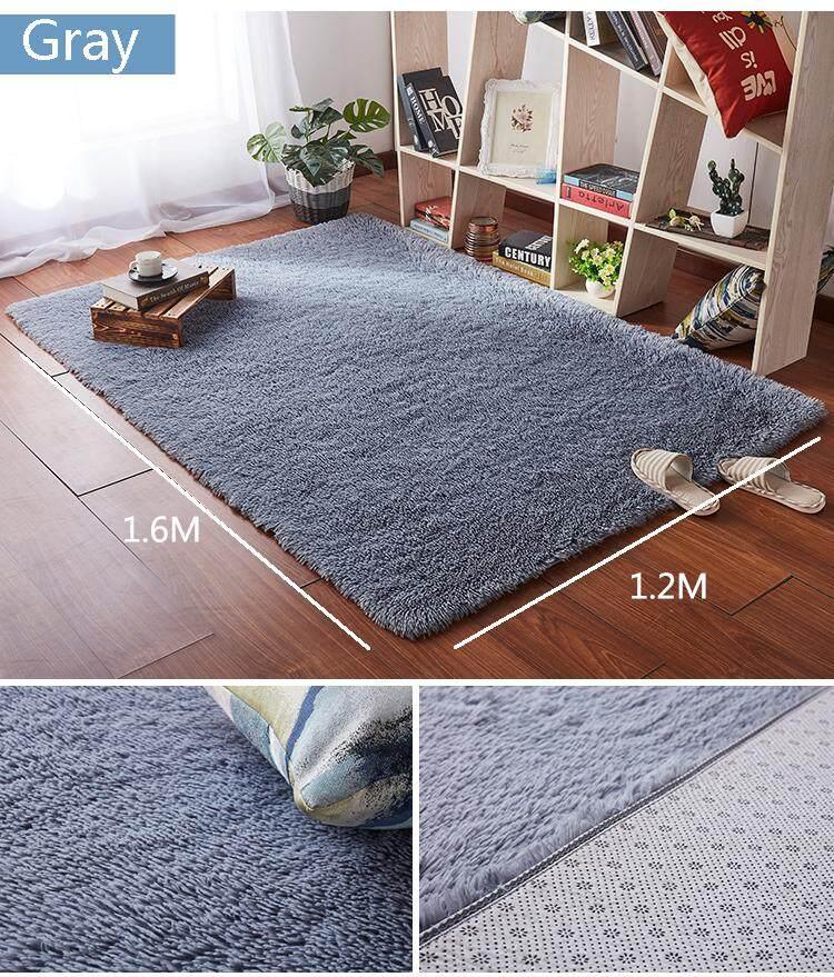 1.2m x 1.6m Fluffy Fashion Modern Floor Area Rug Carpet Mat for Living Room Bedroom