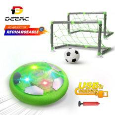 Bộ bóng đá trong nhà DEERC KD002 có đèn LED đệm xốp nhiều màu sắc có thể chơi ngoài sân vườn hoặc trong nhà dành cho bé trai và bé gái phù hợp dùng làm quà tặng – INTL
