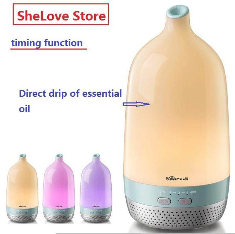 Bear Humidifier Aromatherapy Machine Mini Household Mute Bedroom Office Essential Oil Aromatherapy Lamp Timing JSQ-D02E1 Singapore