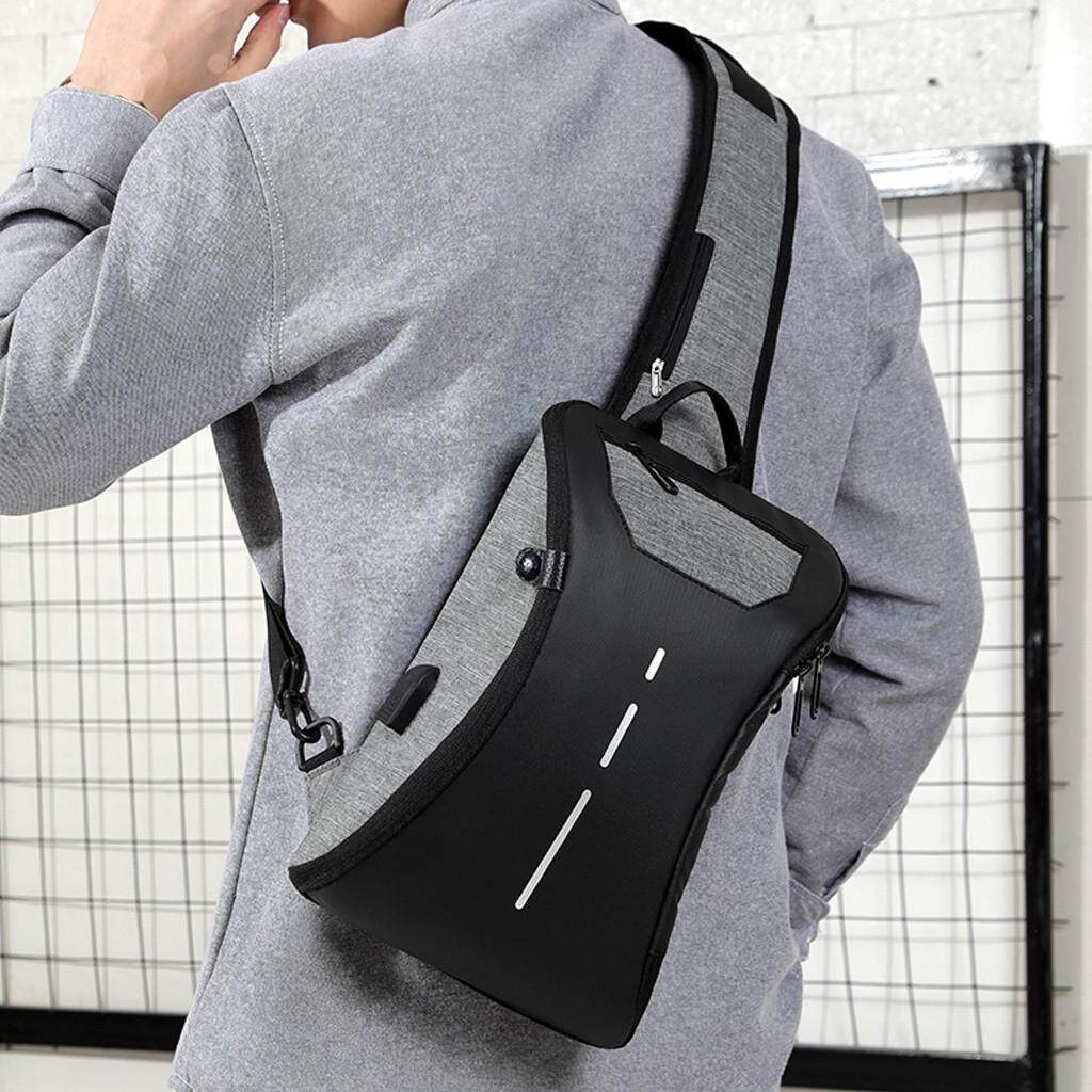 Couples Charging Chest Bag Travel Bag Fashion Bag Multi-Function Messenger Bag