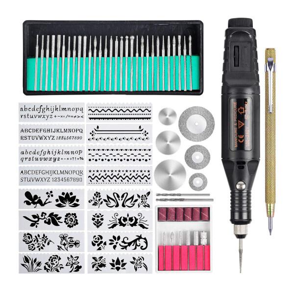 Wandly Cloudly Micro Bút Khắc Kim Loại Mini Tự Làm Thủy Tinh Công Cụ Khắc Bao Gồm Cả Scriber Bits Stipes