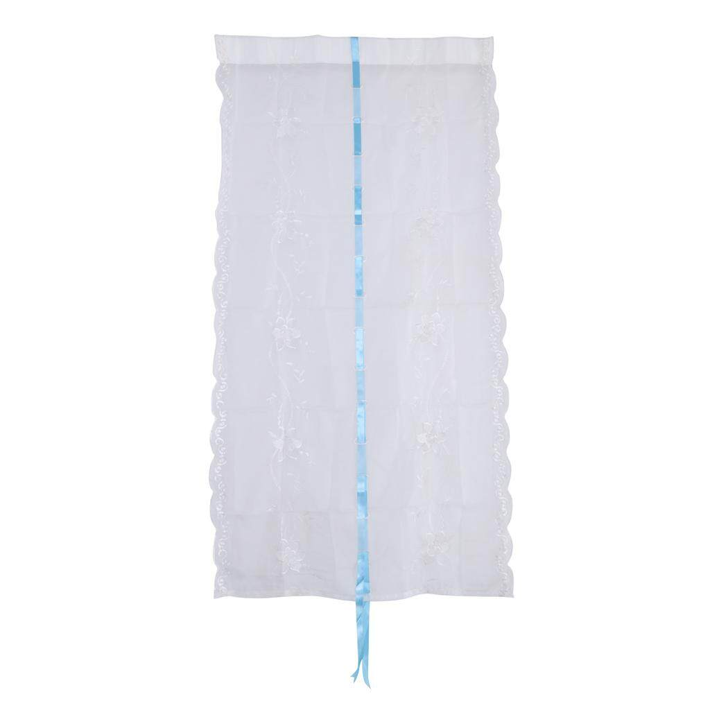Dolity Set of 2 Decorative Blackout Window Curtains Tie Up Curtains for Bedroom
