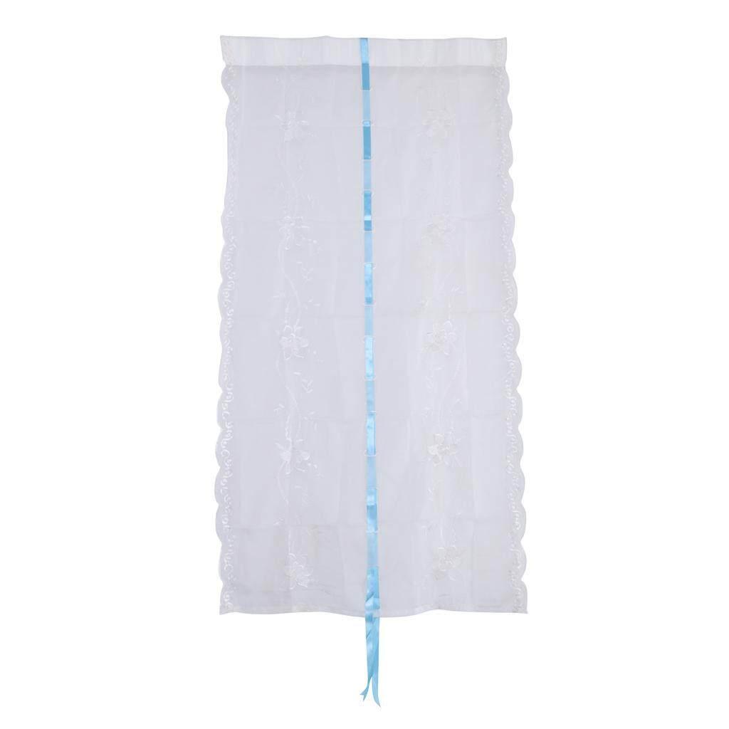 BolehDeals 2 Pcs Decorative Balcony Window Roman Shades Tie-Up Roman Shades Curtain