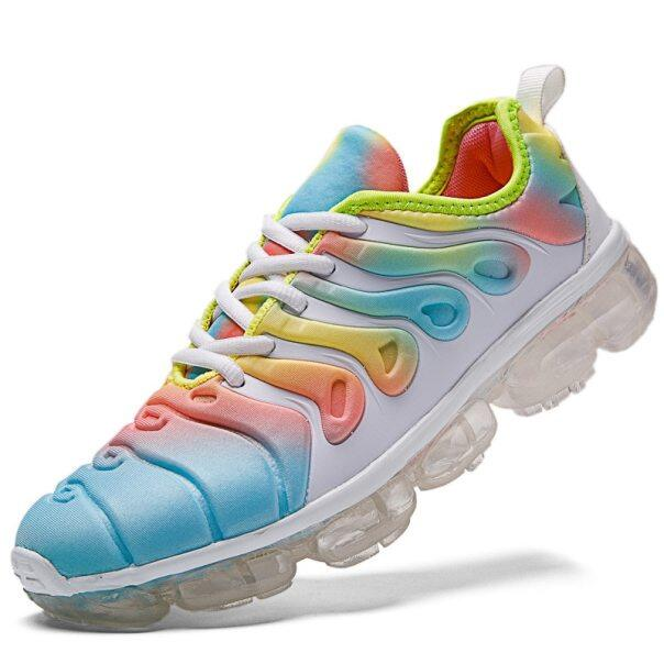 Chiều Cao Tăng Đầy Màu Sắc Giày Chạy Cho Phụ Nữ Sneakers Thể Thao Ngoài Trời Nền Tảng Thể Thao Đệm Giày Dép Màu Duy Nhất giá rẻ