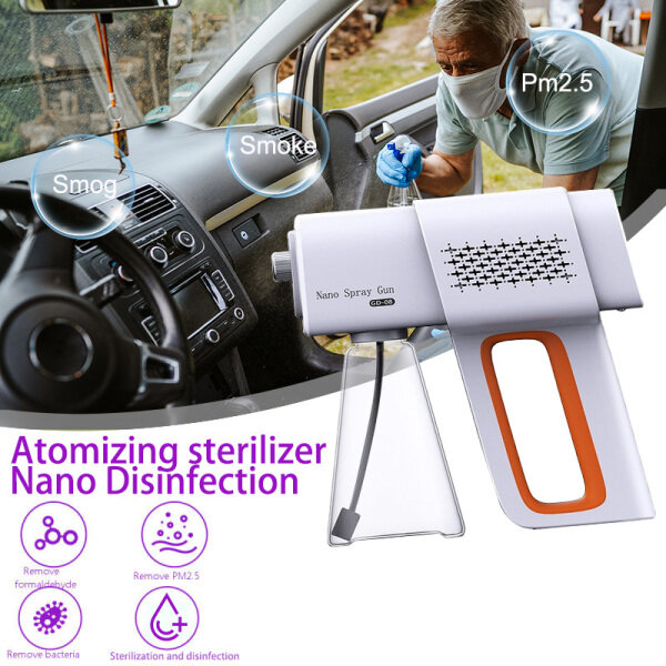 【JMYmall】380ML 2200mA Wireless Disinfection Sprayer Human Body Induction Nano Handheld Portable USB Rechargeable Blue Light Disinfector