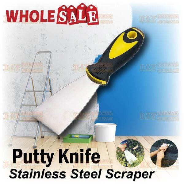 Stainless Steel Scraper Yellow/Black Handle