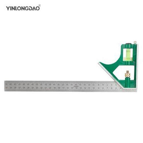 300mm Adjustable Combination Square Angle Ruler 45 / 90 Degree Level Rule