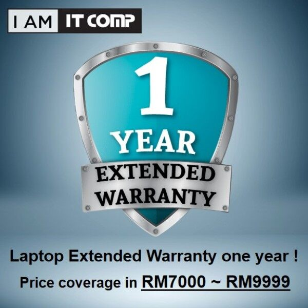 1 CARE (Coverage in RM7000 ~ RM9999) Extended 1 Year Warranty for Laptop Malaysia
