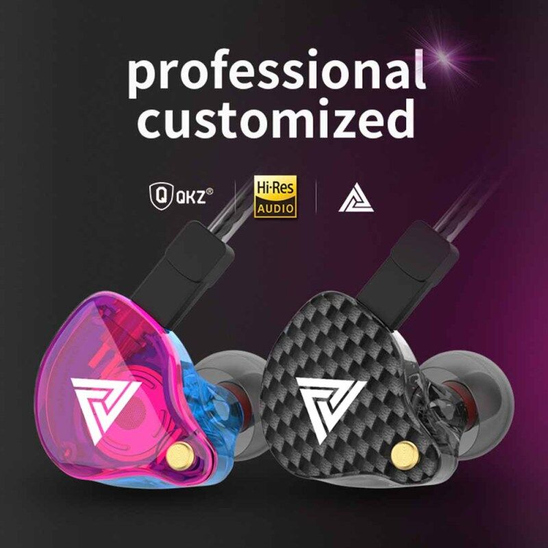 [Ready stock] QKZ VK4 Hi-Res Detachable In-Ear Bass 3.5mm Wired Earphones Music Earbuds with Mic Singapore