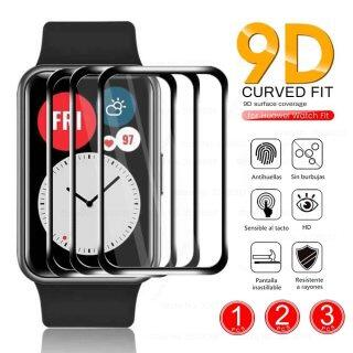1-3 Chiếc Kính Bảo Vệ Sợi Mềm Cong Trong Suốt 9D Đối Với Huawei Đồng Hồ Phù Hợp Với Smartwatch, Phụ Kiện Miếng Dán Bảo Vệ Toàn Màn Hình thumbnail