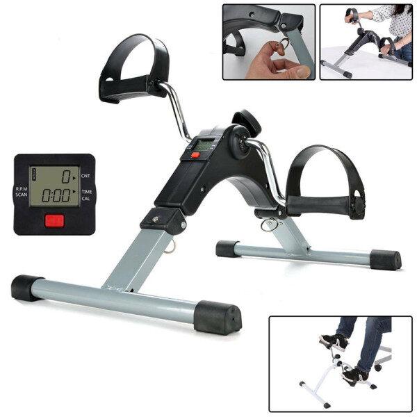 Exerciser Xe Đạp (Gấp) Máy Tập LCD Mini Bàn Đạp Tay/Chân Đạp Xe Tập Thể Dục-