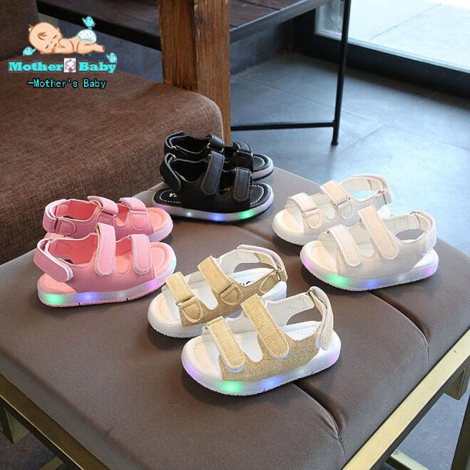 【COD】 1 Cặp Trẻ Em Mùa Hè LED Dép, Giày Phát Sáng Có Dây Cho Bé Trai Bé Gái giá rẻ