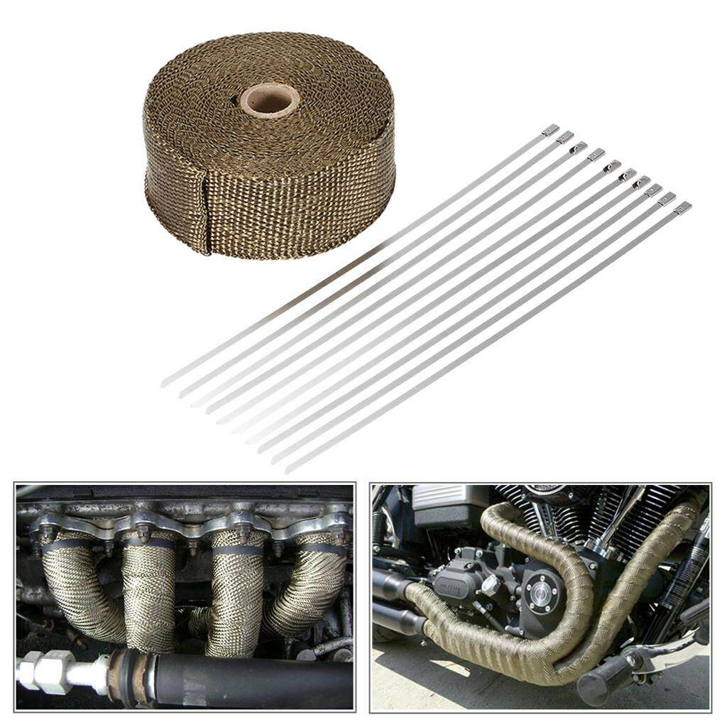 【dickeystore】5m Silver Fiberglass Exhaust Pipe Wrap Tape Turbo Heat Insulation Cloth By Dickeystore.