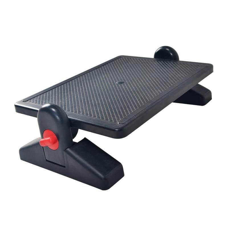 Ergonomic Footrest Adjustable Angle and Height Office Foot Rest Stool for Under Desk Support 2-Level Height Adjustment Black