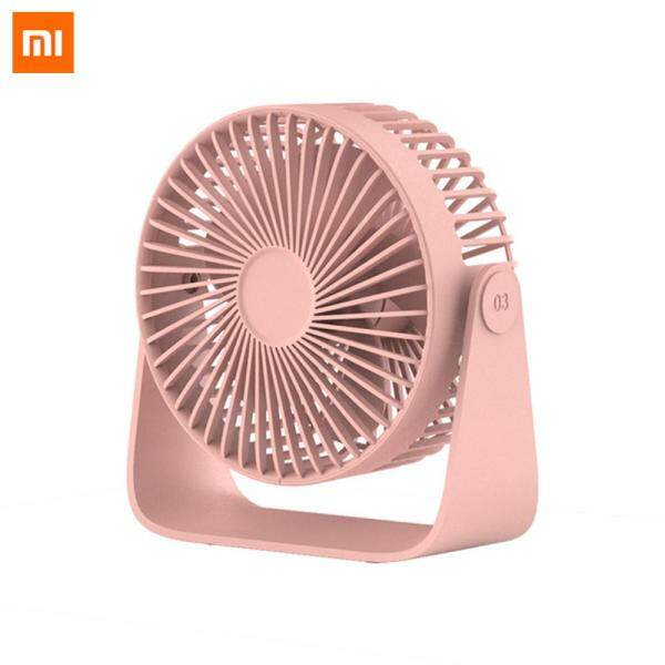 Xiaomi Sothing Mini Fan Portable USB Fan Double Leaf Desktop Fan Ultra Quiet Smart Touch Summer Cooler 360 degrees For Smart Home