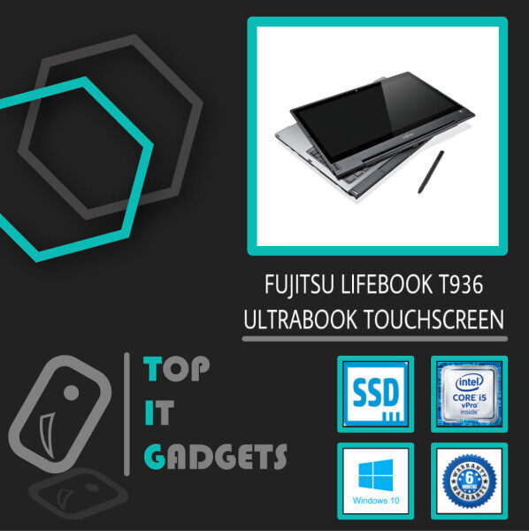 FUJITSU LIFEBOOK T936 TOUCHSCREEN / INTEL CORE I5 6TH GENERATION / 13.3 INCH FHD DISPLAY / 2-IN-1 CONVERTIBLE ULTRABOOK / 8GB DDR4 RAM / 128GB SSD STORAGE / WINDOW 10 PRO 64-BIT / 6 MONTHS WARRANTY [ #LAPTOP ] Malaysia