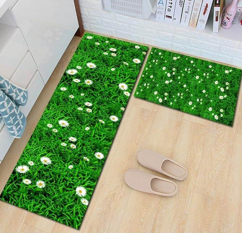 2 Pcs /set Kitchen Mat Carpet With Anti Slip By Sc Automation.