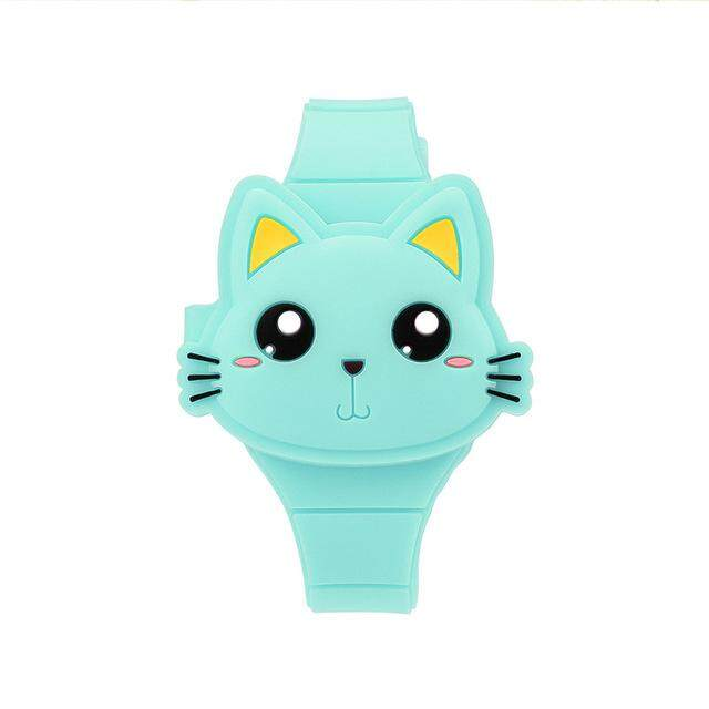 10Colors Lovely Cat Children Watch 3D Cartoon Animal Kids Silicone Flap Wristwatch Boys Girls Baby Digital Sport Watches Gift PJ Malaysia