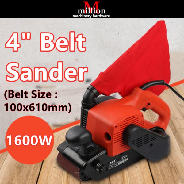 millionhardware - 1600w 4 ( 100x610mm ) Electric Belt Sander Sanding Wood Finish  Belt Sander Abrasive Belt Wood Sanding Belt Grinder Woodworking Tools