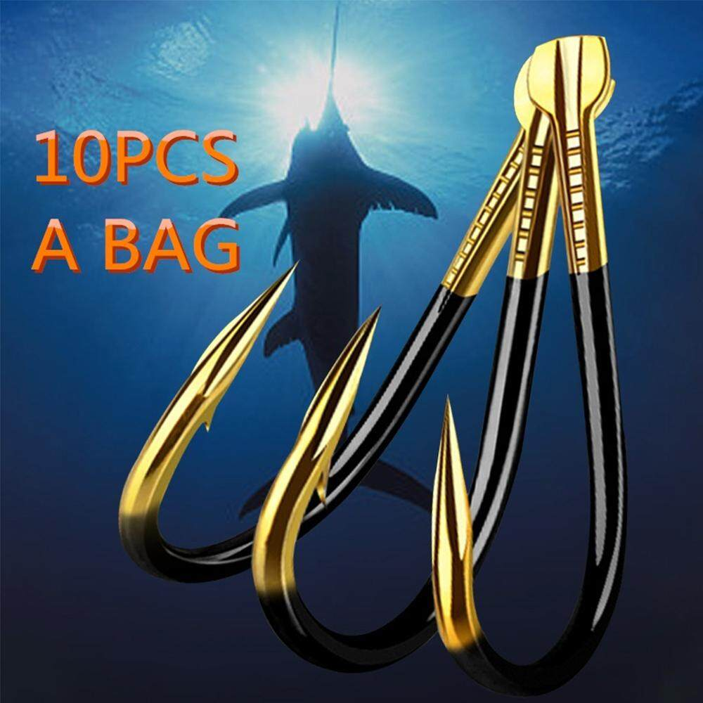 Perforated Durable Head Colored Fish Bait Tungsten Alloy  Barbed Fishing Hook