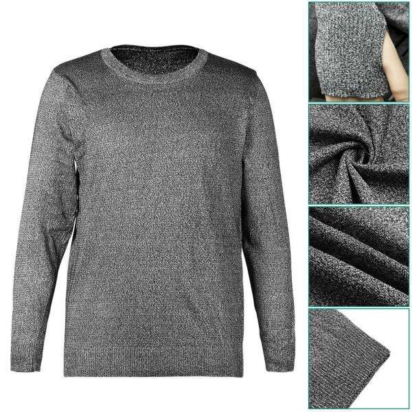 Cut Resistant Anti Slash Clothes Level 5 Protective Equipment Round Neck Long Sleeve