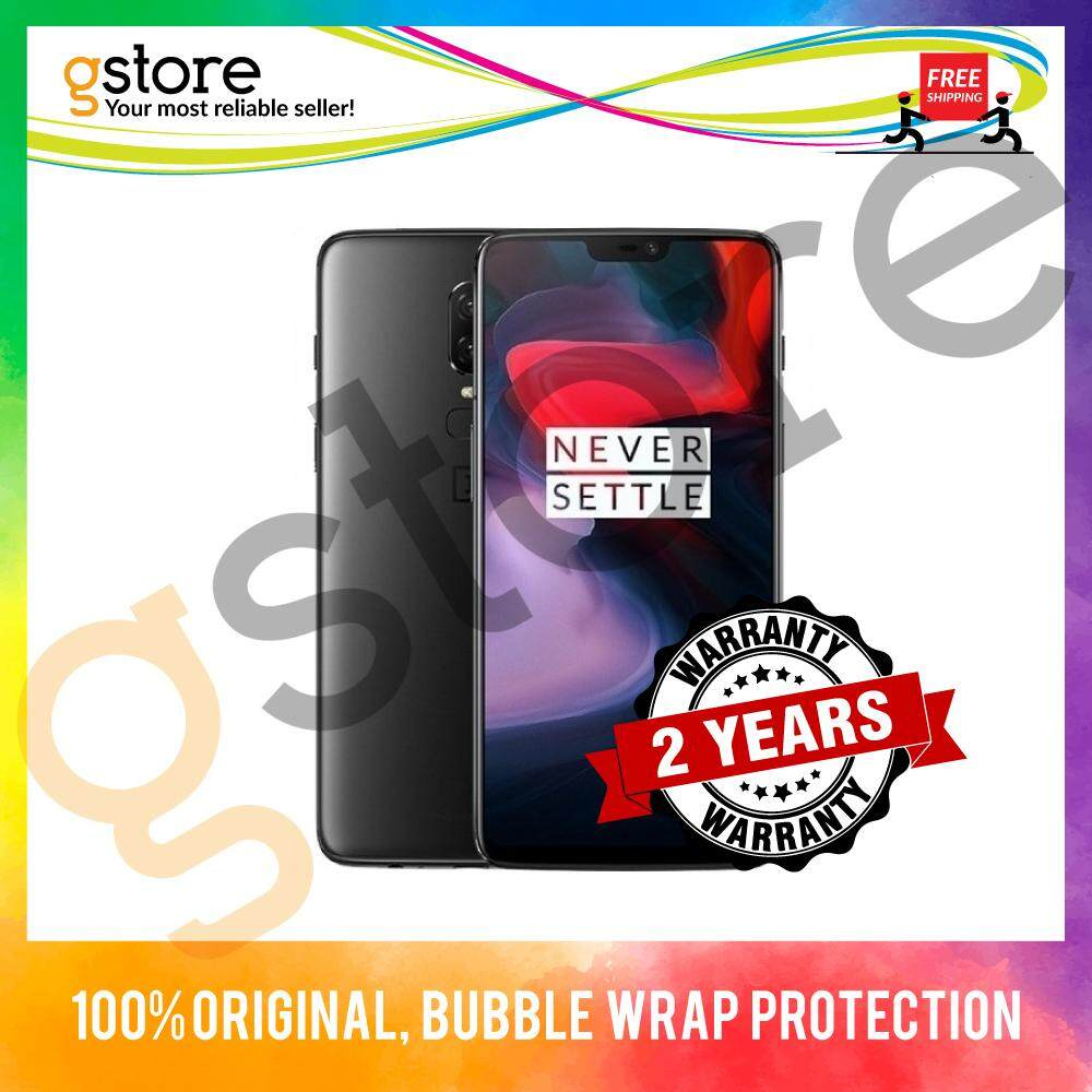 (2 Years Warranty) OnePlus 6 A6000 - OxygenOS [128GB & 256GB ROM / 8GB RAM]  Imported Set + Free Case & Screen Protector (In Box) handphone