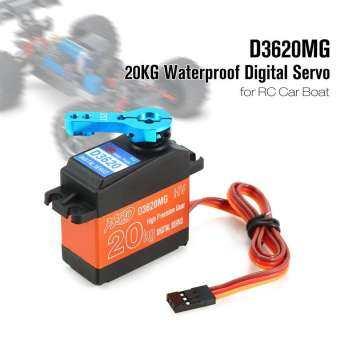 ผู้ขายร้อน HDKJ D3620MG 20 กิโลกรัมกันน้ำโลหะพวงมาลัยเซอร์โวระบบดิจิตอลสำหรับ RC รถยนต์เรือ-